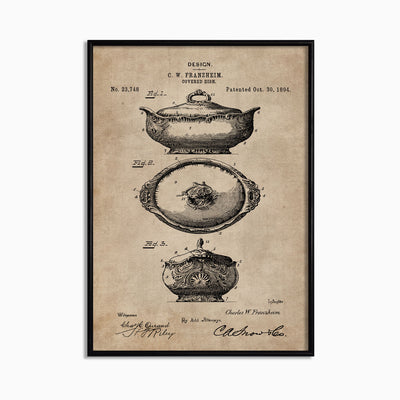 Patent Document of a Covered Dish - Objects of Interest