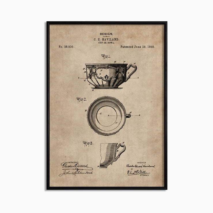 Patent Document of a Cup or Bowl - Objects of Interest