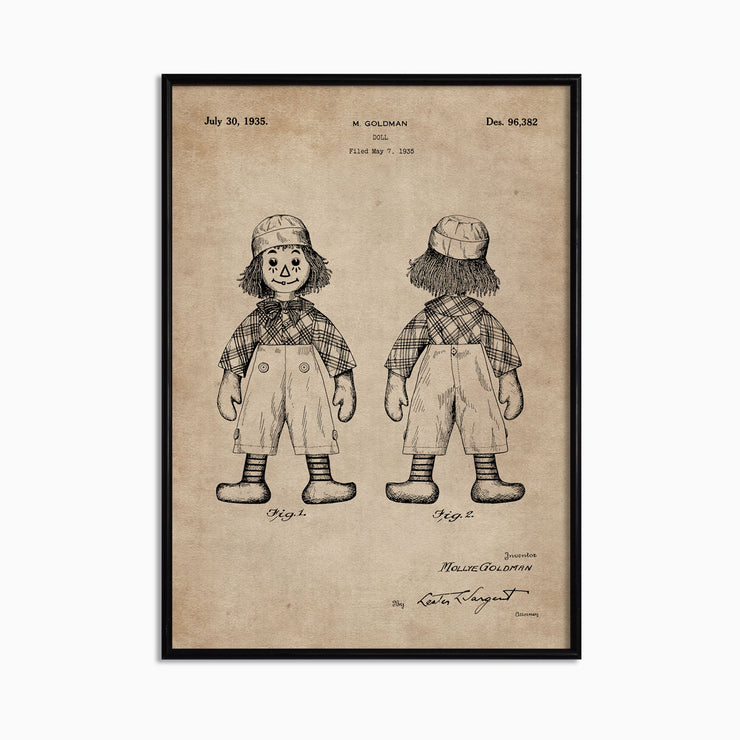 Patent Document of a Doll - Objects of Interest