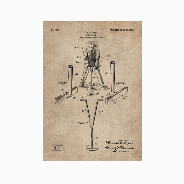 Patent Document of a Golf Club - Objects of Interest