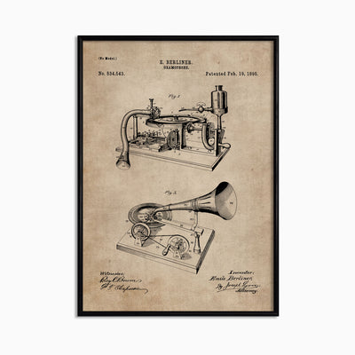 Patent Document of a Gramophone