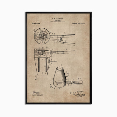 Patent Document of a Hair Dryer - Objects of Interest