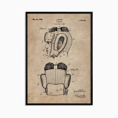 Patent Document of a Headguard for Boxers - Objects of Interest