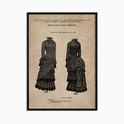 Patent Document of a Lady's Costume - Objects of Interest