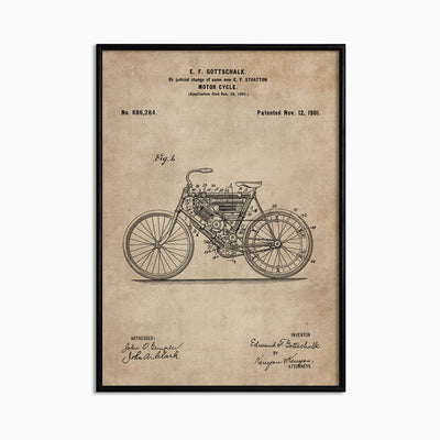 Patent Document of a Motor Cycle - Objects of Interest