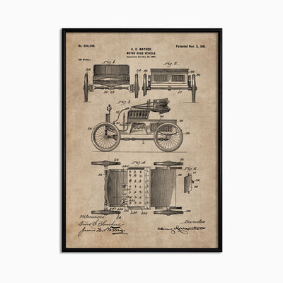 Patent Document of a Motor Road Vehicle - Objects of Interest