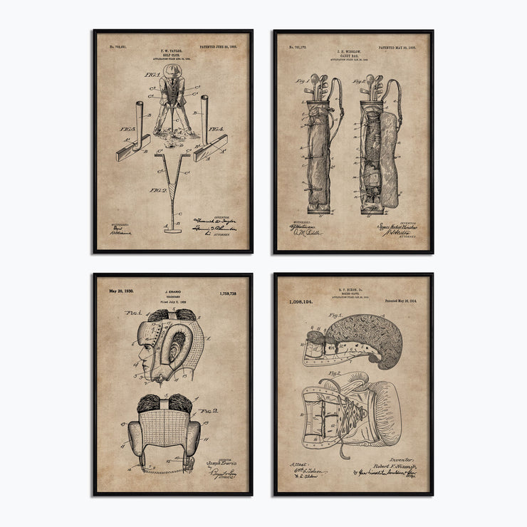 Den Series - Golf & Boxing (Set of 4) - Objects of Interest