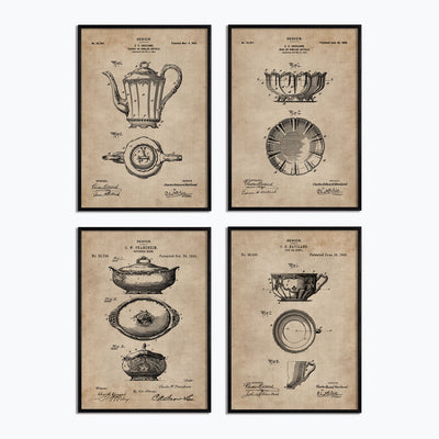 Kitchen & Dining Series - Crockery (Set of 4) - Objects of Interest