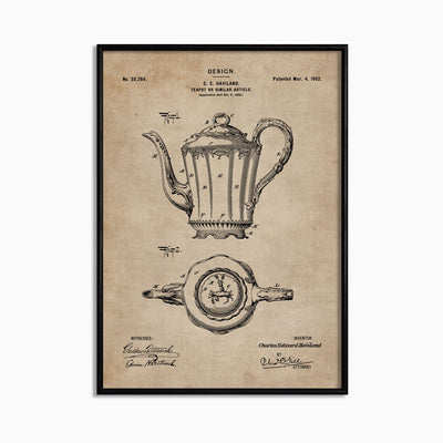 Patent Document of a Teapot - Objects of Interest