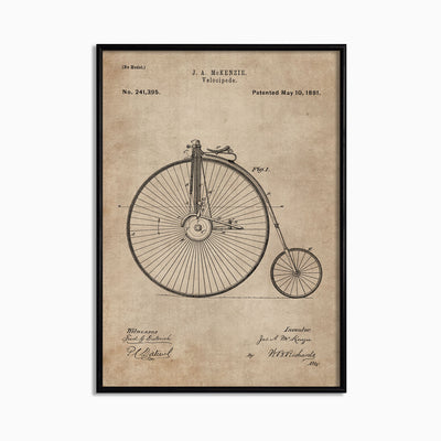 Patent Document of a Velocipede - Objects of Interest