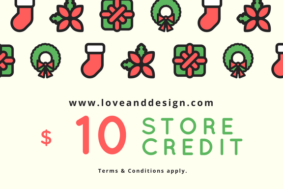 Buy Gift Cards from Love and Design!