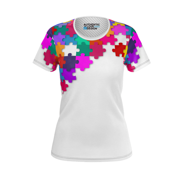 Love and Design Ladies Jigsaw T-Shirt