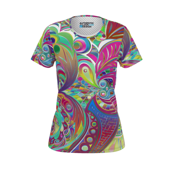 Love and Design Ladies Colour Swirl T-Shirt