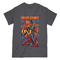 Love and Design Love and Design Original Crazy Gamer T-Shirt Style 3