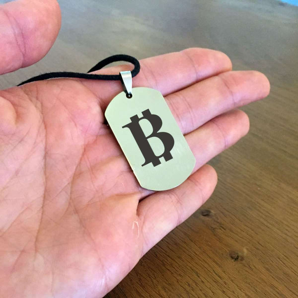 Bitcoin Dogtag Necklace - Jewellery.