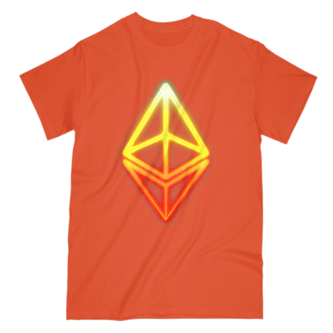 Glowing Ethereum Cryptocurrency T-Shirt