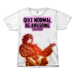 Incredible Quit Normal, Be Awesome All Over Guitarist T-Shirt