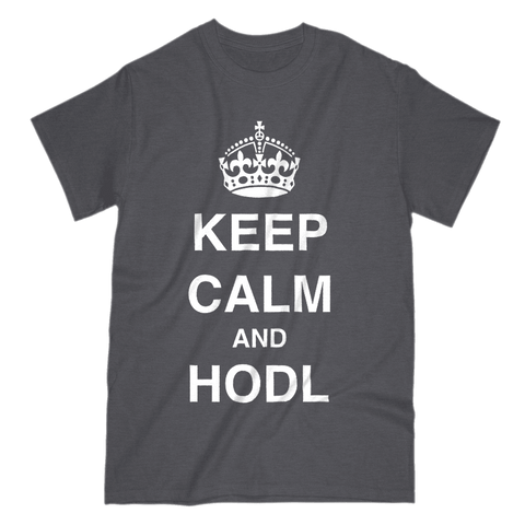 Love and Design Bitcoin Keep Calm and HODL T-Shirt