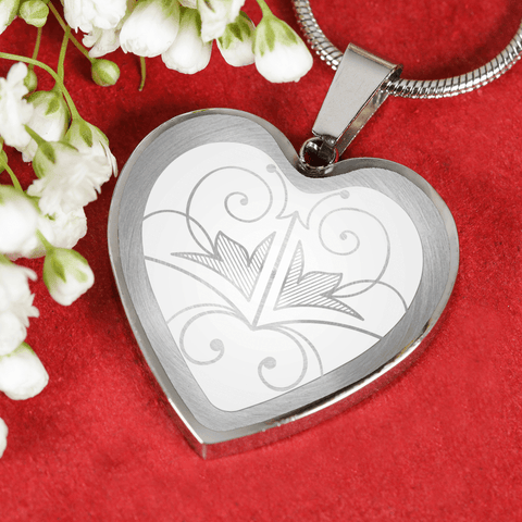 Love and Design Heart Butterfly Necklace/Bangle - Custom Engraving Available