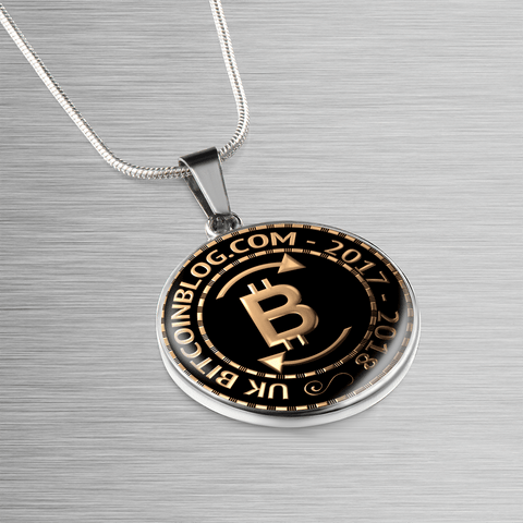 UK Bitcoinblog.com Official Pendant Necklace, Bangle