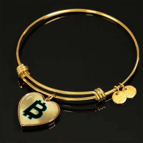 Love and Design Incredible Bitcoin B 18K Gold Necklace