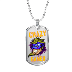 Love and Design Crazy Gamer Dog Tag