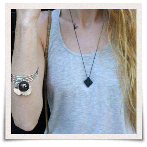 Rock Legend Pendant on Bracelet and Necklace
