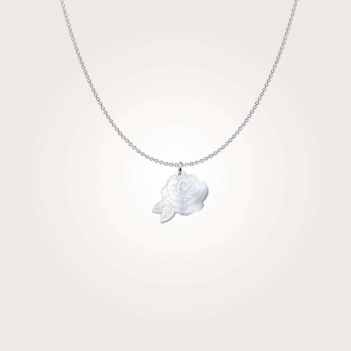 Rose Sterling Silver Necklace Style 2