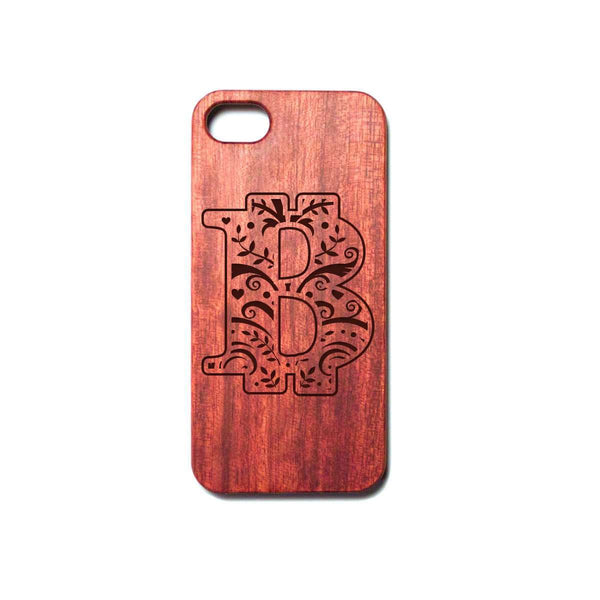 Love and Design Fantastic Bitcoin Wooden iPhone Case