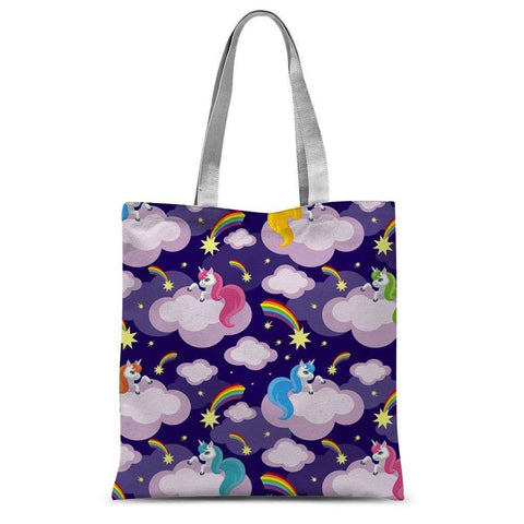 Love and Design Unicorn Pattern Sublimation Tote Bag