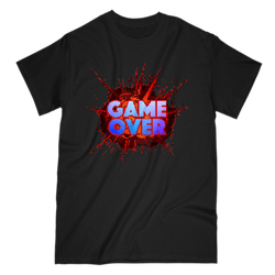 Love and Design Game over Explosion Gamer 8 Bit T-Shirt