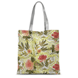 Flowers with Gold Border Tote Bag