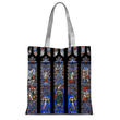 Stained Glass Pattern Tote Bag
