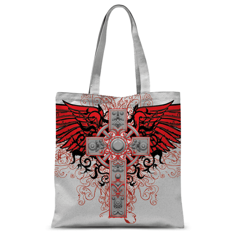 Cross and Wings Tote Bag
