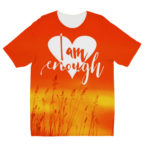 Love and Design I Am Enough Kids Sublimation TShirt