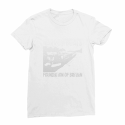 Narrowboats Foundation of Britain White Women's Fine Jersey T-Shirt