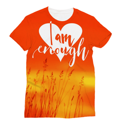 I Am Enough Double Side Wrap Around T-Shirt