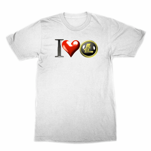 I Love Litecoin Sublimation T-Shirt