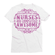 Nurses are Completely Awesome Sublimation T-Shirt