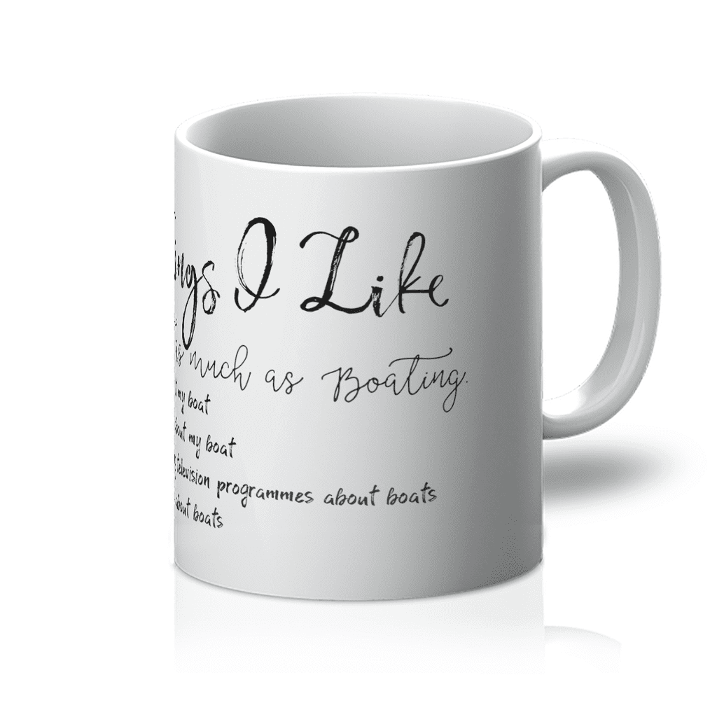 5 Things I like Almost As Much As Boating Mug