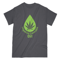 Love and Design Legalise Cannabis Oil UK T-Shirt