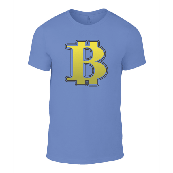 Exclusive to Love and Design - BIG Bitcoin B T Shirt in Blue