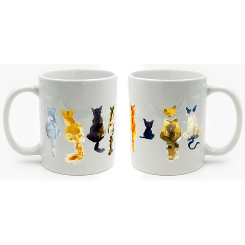 Painted Cat Mug