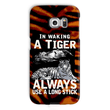 In Waking a Tiger, always use a long stick Phone Case