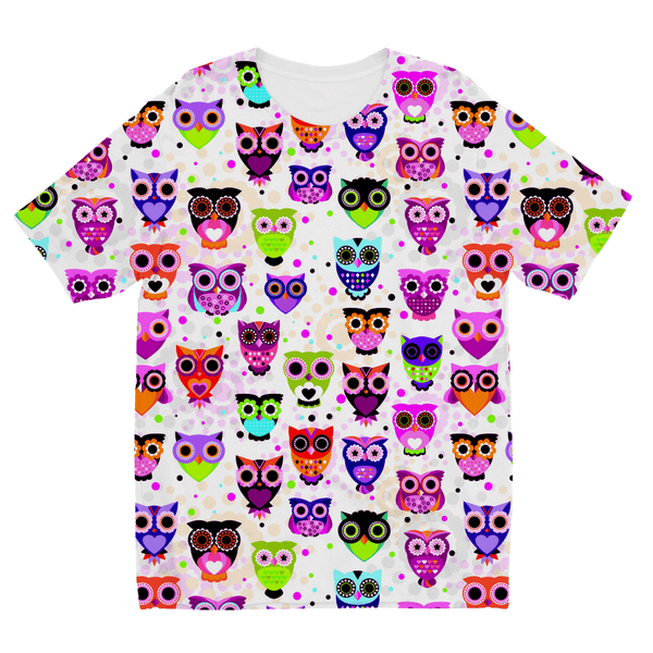 Owl Pattern Kids Sublimation TShirt