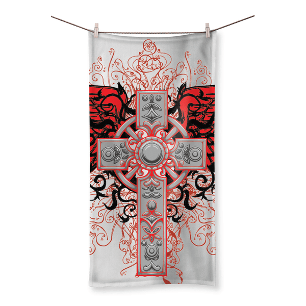 Love and Design Brand - Cross and Wings Courage Beach Towel