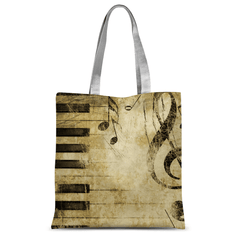 Love and Design Music and Piano Brand Tote Bag