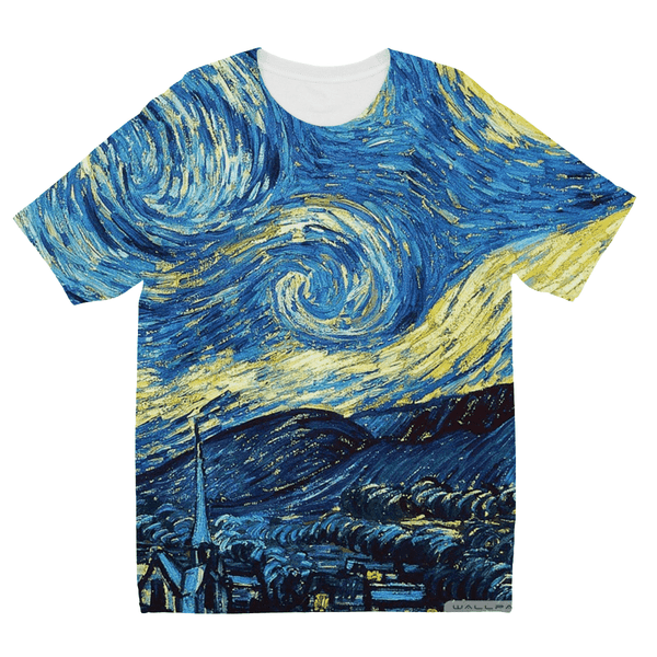 The Starry Night by Vincent Van Gough Kids Sublimation TShirt