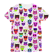 Love and Design Owl Pattern Sublimation T-Shirt