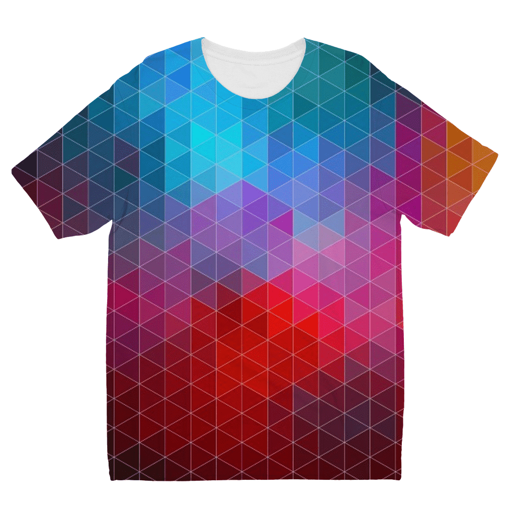 Abstract Triangles Kids Sublimation TShirt
